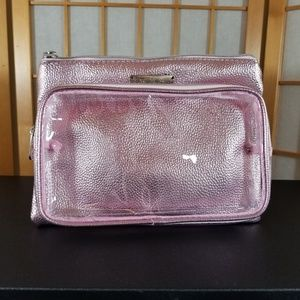 Bebe Baby Pink Metallic Cosmetic Bag